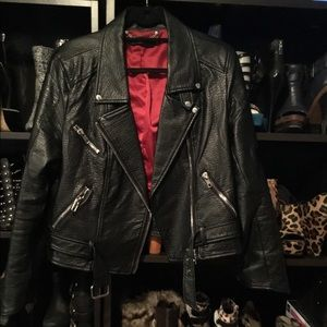 ABS faux leather jacket. Pre-owned, good condition